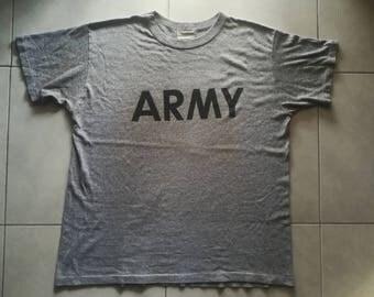 Vintage 80's Army heather grey crewneck