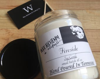 Jason Voorhees Fireside Candle - Scented Soy Candle - Halloween Candle - Soy Candles Handmade - Gothic Home Decor - Halloween Candle - Goth