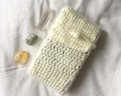 Crochet Tarot Deck Bag | Ivory White | Handmade | Tarot | Simple Tie | Case, bag, holder, pouch | Tarot Reading | Tarot Cards | Oracle