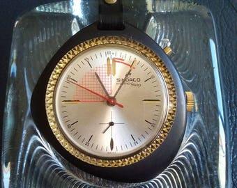 SWISS SINDACO MEMOSTOP Watch, Sindaco MemoStop Pocket Watch Key Holder, Swiss Stop Watch Chronometre, Sindaco Jaguar Chronometre Watch