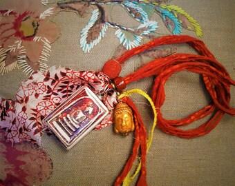 Shamballa Buddha necklace