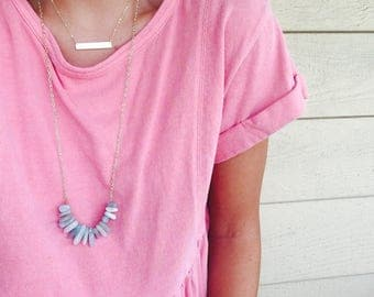 stick bead layering necklace