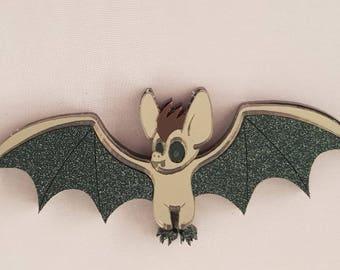Halloween 'Vamp' bat brooch