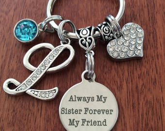 Personalized Sister Gifts, Unique Sister Gifts, Sister, Sister Birthday, Gifts For Sister, Sister Keychain, Always My Sister, Sister Jewelry