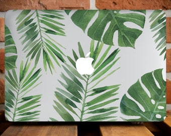 Tropical Leaves MacBook Air 13 Hard Case MacBook Air Case 13 Macbook Air Laptop Case Macbook Pro 13 Case Macbook 2016 Leaf Retina WCm007