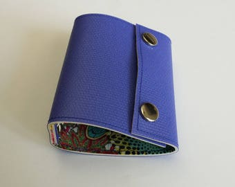 Recycled - Card holder recycled linoleum Navy (n 33)