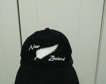 Rare Vintage New Zealand | All Black Cap Hat Free size fit all
