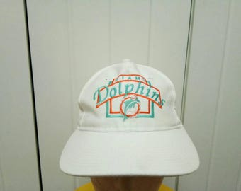 Rare Vintage MIAMI DOLPHINS Big Logo Cap Hat Free Size Fit All
