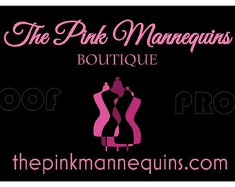 THE PINK MANNEQUINS Boutique Customized  Business Cards And Fashion Tags - Prepayment-