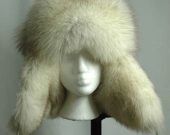 Real Fox fur hat, chapeau de fourrure