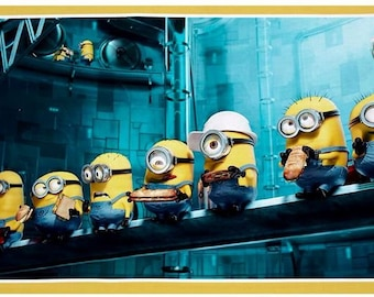 Quilting Treasures - Minion - Construction - Panel - Digitally Printed
