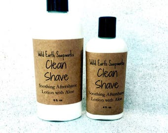 Clean Shave Aftershave Lotion with Aloe