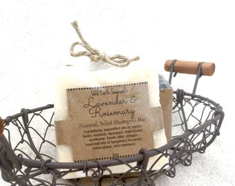 Lavender and Rosemary Solid Shampoo Bar