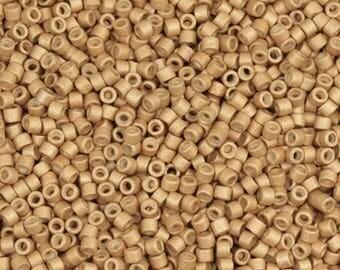 Miyuki 8g 11/0 Galvanized Matte Honey Gold Delicas