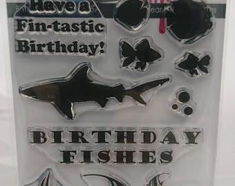 Birthday Fishes A6 stamp set designed by Kerri-Ann Briggs for Imagine Design Creat