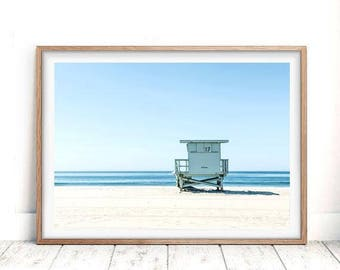 Beach Print Decor Wall Art Photo Prints Lifeguard Tower Printable