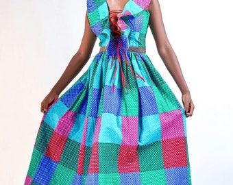 Lucia Ruffled Front maxi dress