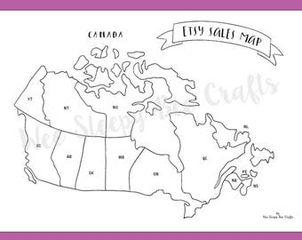 etsy sales map of canada colouring page digital download pdf scratch map colouring