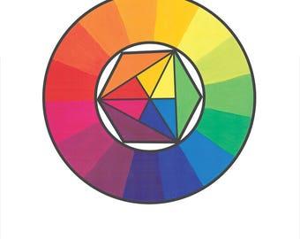 A4 Poster Art - Colour Wheel