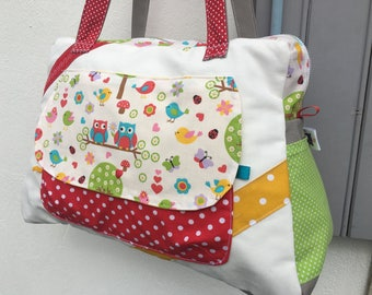 Personalized large diaper bag, weekend bag * on order - fabric choices *.