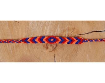 Armenian Tricolor Handmade Bracelet, Acrylic Thread Bracelet, Armenian Bracelet, Friendship Bracelet
