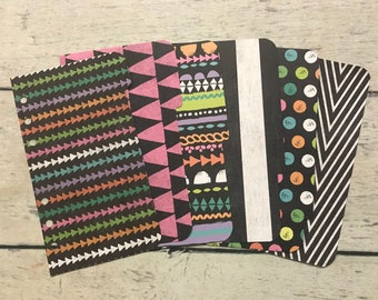 PERSONAL Sized geometric Dashboard& Dividers for Filofax, Day Planner, Franklin Covey, Gillio, Kikki K, Etc