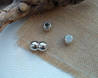 Magnetic clasp DOUBLE Platinum 12x20mm metal balls