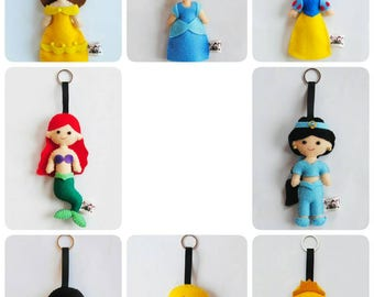 Disney Princess felt keychain
