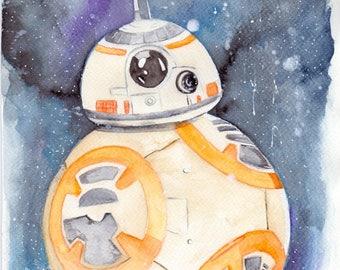 A4 BB-8 Galaxy Print