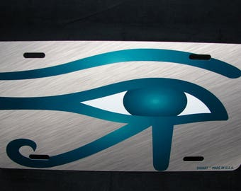 HORUS EYE Metal License Plate For Cars Eye Of Ra Eye Of HORUS Wadjet
