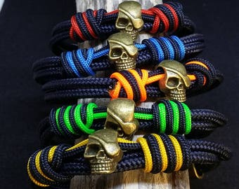 Nautical skull bracelet-nautical bracelet skull--Men's bracelet--Skull Bracelets