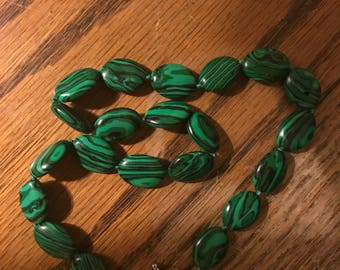 Sterling silver, Malichite necklace  free shipping