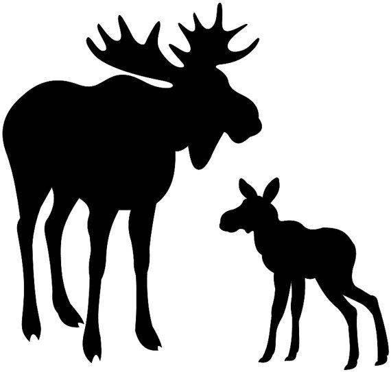 Pack Of 3 Moose And Baby Stencils 11x14 8x10 And 5x7