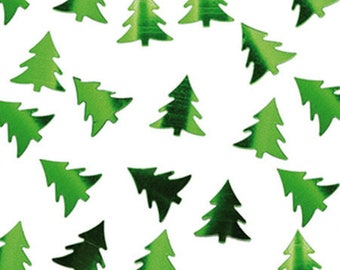 A bag of confetti Christmas trees Green 8 gr