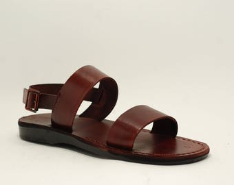 leather sandals | leather slippers men| leather sandals man| brown leather sandals | handmade sandals | Greek shoes Jesus sandals