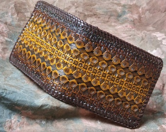 Hand Tooled Billfold  -- Leather Billfold Wallet --  Men's Billfold -- Made in the USA