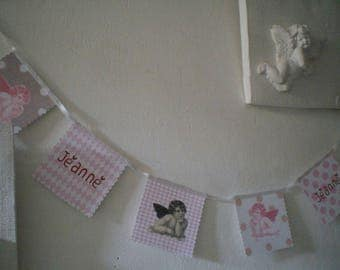 Personalized pink Garland baby Angels theme