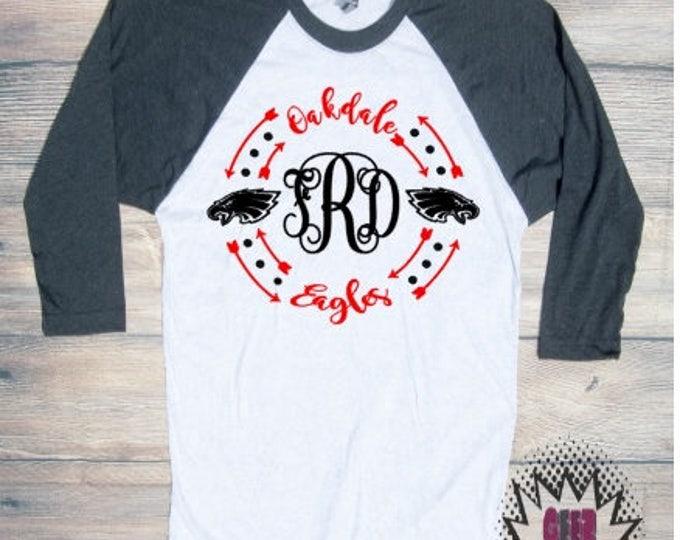 oakdale monogram Tshirt football Youth Kid Child Unisex Cotton   t-shirt vinyl