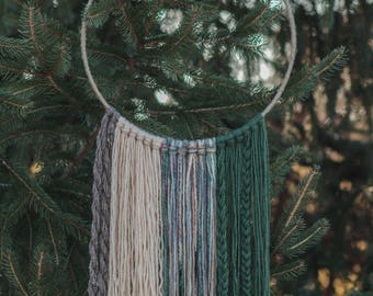 Autumn in the Woods Yarn Wall Hanging