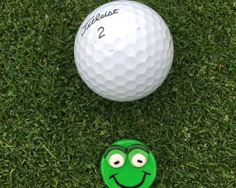 Golf accessories, Golf ball marker, frog putting marker