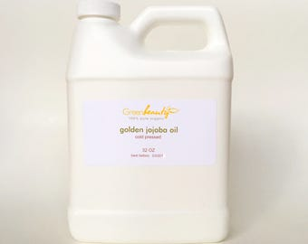 GOLDEN JOJOBA carrier OIL unrefined cold pressed organic 100% pure natural 32oz