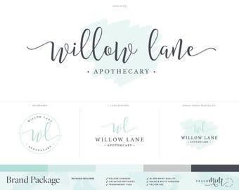 Logo Design | Photography Logo & Watermark |  Logo Branding Package | Mint | Watercolour Logo | Premade Logo | Calligraphy Logo | Brand Kit