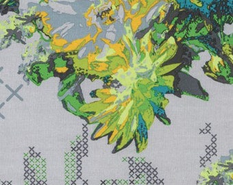 Anna Maria Horner Fabric - Mod Corsage Memory in Field Fabric by the Yard