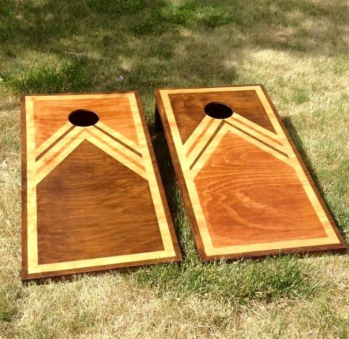 Cornhole Boards Classic And Retro Design Regulation Size