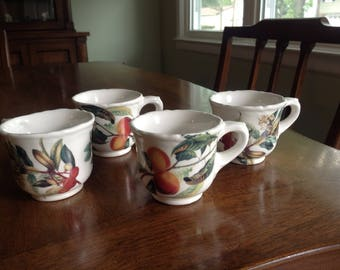 Set of 4 Vietri Espresso/Demitasse Cups -Italy
