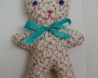 Lightweight floral cotton cat toy