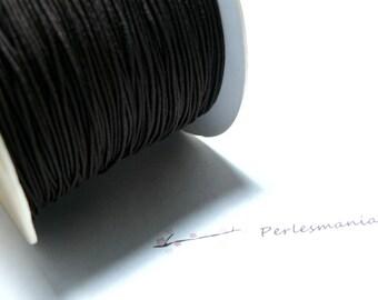 3 meters elastic thread braided 0.8 mm dark brown