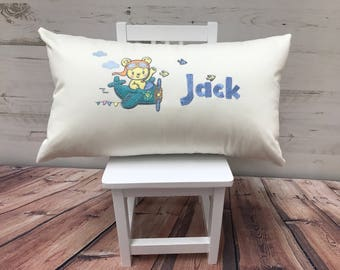 childrens aeroplane cushion