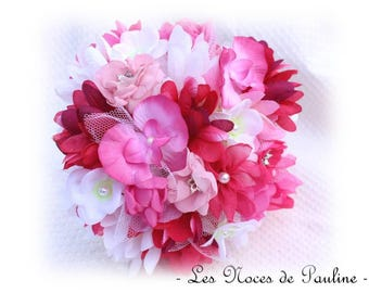 Pink and white bridal bouquet Lord