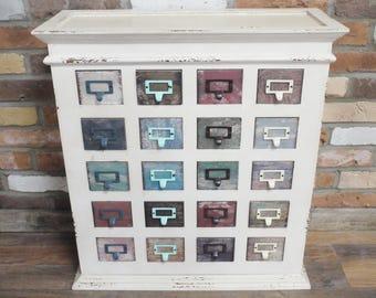 Multi Coloured Wooden Cabinet